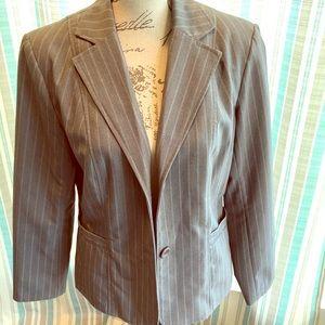 Jackets & Blazers - Grey Pinstripe Blazer